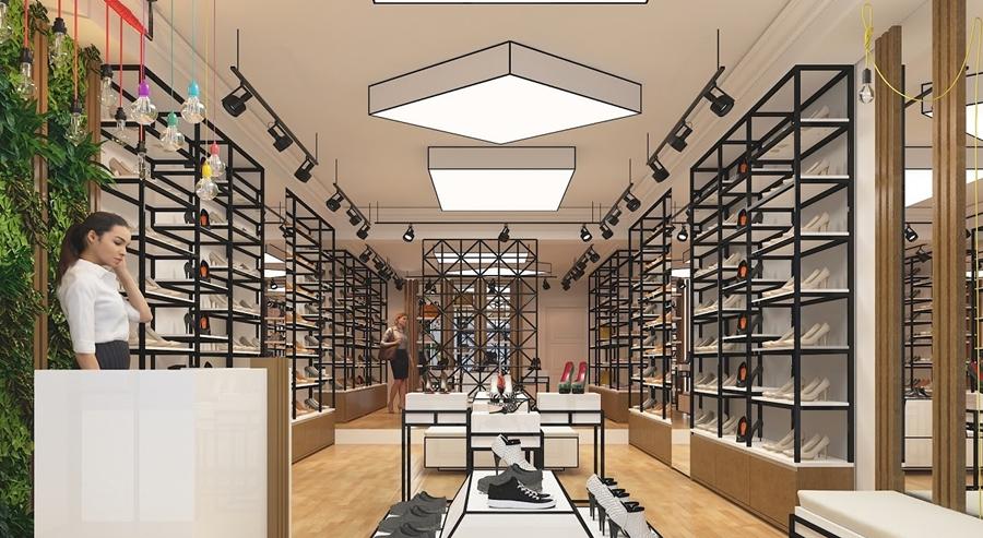 Kinh nghiệm trang trí cửa hàng giày dép thu hút