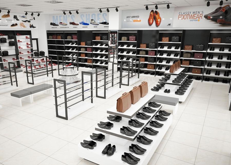 Cách trang trí cửa hàng giày dép